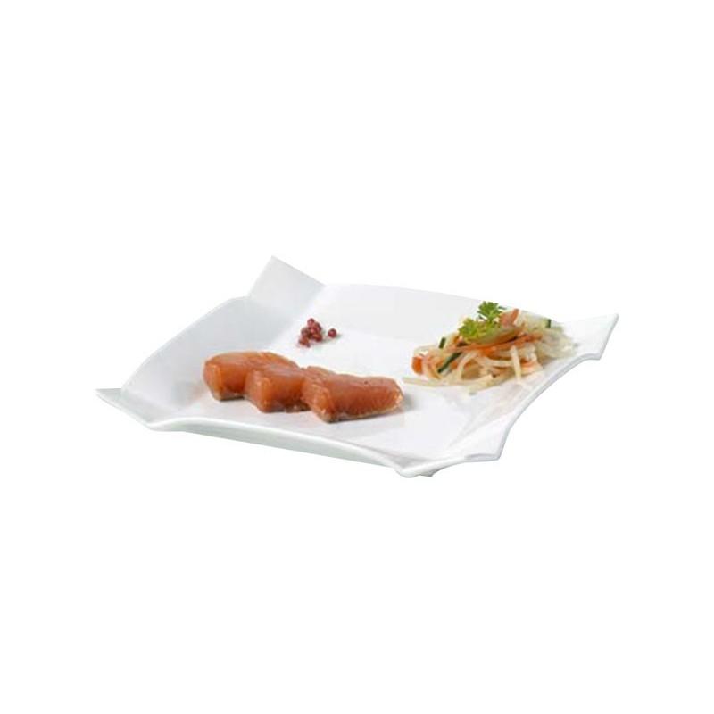 assiette carr e 25x25 bords relev s brasserie taquet location. Black Bedroom Furniture Sets. Home Design Ideas