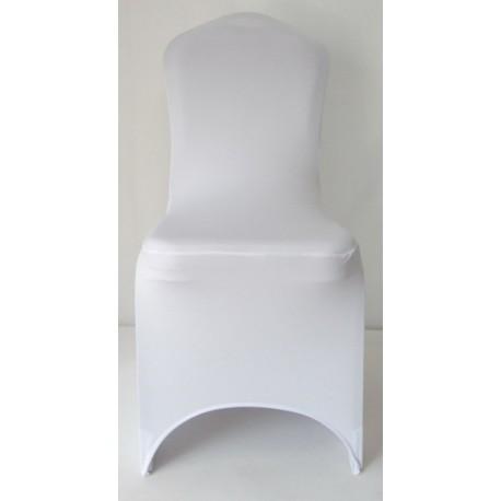 Housse de chaise en stretch blanc ou noir brasserie - Housse de chaise blanc ...